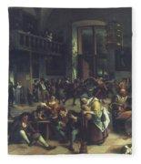 Steen: Merrymaking, 1674 Fleece Blanket