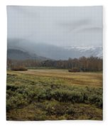 Steens Mountain Landscape - No 2a Fleece Blanket