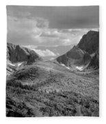 109629-bw-steeple And Temple Peaks, Wind Rivers Fleece Blanket