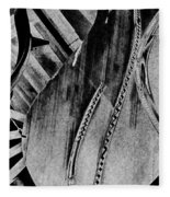 Steinway Black And White Inners Fleece Blanket