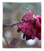 Stem Dried Petals Fleece Blanket