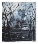 Step Into The Woods Fleece Blanket