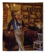 Stepping Back In Time At Bent's Old Fort Fleece Blanket