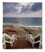 Steps And Pelicans Fleece Blanket