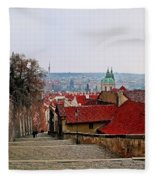 Steps Of Prague Fleece Blanket