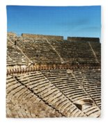 Steps Of The Theatre In The Ruins Fleece Blanket