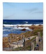Steps To The Sea Fleece Blanket