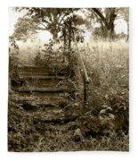 Steps To Yesterday Fleece Blanket