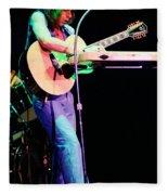 Steve Howe Of Yes 1980 Drama Tour Fleece Blanket
