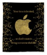 Steve Jobs Quote Original Digital Artwork Fleece Blanket