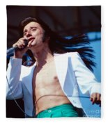 Steve Perry Of Journey At Day On The Green Fleece Blanket