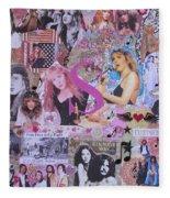 Stevie Nicks Art Collage Fleece Blanket