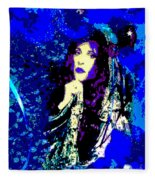 Stevie Nicks In Blue Fleece Blanket