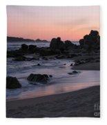 Stewart's Cove At Sunset Fleece Blanket