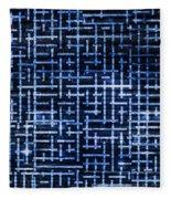 Stick Labyrinth Fleece Blanket