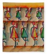 Stickwomen Performers Fleece Blanket