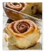 Sticky Cinnamon Buns Fleece Blanket