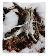 Still In Snow Fleece Blanket