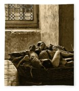 Still Life At Chenonceau Fleece Blanket