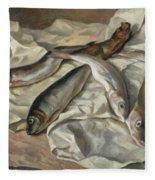 Still Life Of Fish, 1928 Fleece Blanket