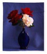 Still Life Red White And Blue Fleece Blanket