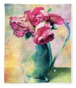Still Life Roses Fleece Blanket