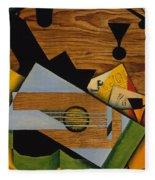 Still Life With A Guitar Fleece Blanket
