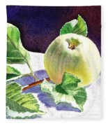 Still Life With Apple Fleece Blanket