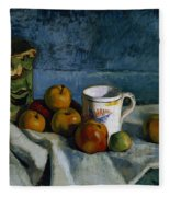 Still Life With Apples Cup And Pitcher Fleece Blanket