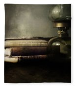 Still Life With Books And The Lamp Fleece Blanket