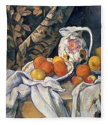 Still Life With Drapery Fleece Blanket