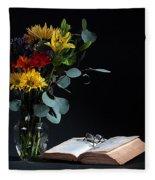 Still Life With Flowers Fleece Blanket