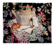 Still Life With Lace Fleece Blanket