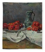 Still Life With Tomatoes Fleece Blanket