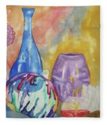Still Life With Witching Ball Fleece Blanket