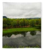 Still Water Reflecting Fleece Blanket