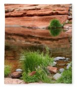 Still Waters At Slide Rock Fleece Blanket
