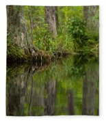 Stillness Swamp Fleece Blanket