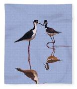Stilts In The Blue Fleece Blanket