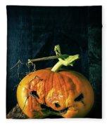 Stingy Jack - Scary Halloween Pumpkin Fleece Blanket