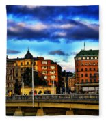 Stockholm In Color Fleece Blanket