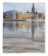 Stockholm Winter Fleece Blanket