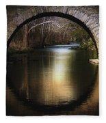 Stone Arch Bridge - Brick Texture Fleece Blanket