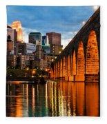 Stone Arch Bridge Fleece Blanket