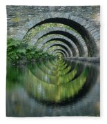 Stone Arch Bridge Over Troubled Waters - 1st Place Winner Faa Optical Illusions 2-26-2012 Fleece Blanket