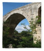 Stone Arch Of Pont St. Julien Fleece Blanket