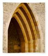 Stone Archway At Tower Hill Fleece Blanket