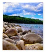 Stone Beach Fleece Blanket