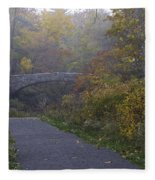 Stone Bridge In Autumn 3 Fleece Blanket