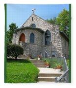 Stone Church Fleece Blanket